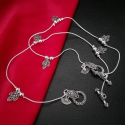 Stylish Silver Plated Designer Anklets Payal
