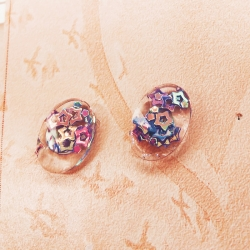 Sequins Glass Stud Earrings