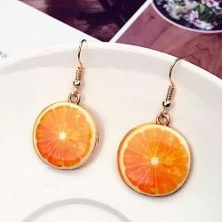 Cute Fruit Orange Earrings