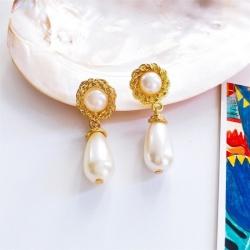 Fashion Pear Drop Gemstone Earrings
