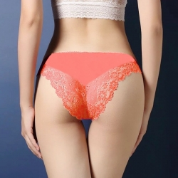 Floral Lace  Seamless Low Waist Panties