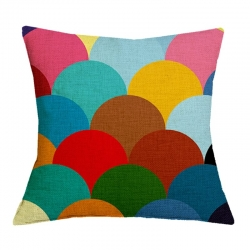 Triangle Geometric Pattern Jute Cushion Covers