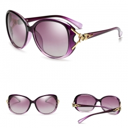 Elegant Purple Polarized Sunglasses