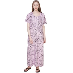 Littledesire A-line Printed Cotton Nighty
