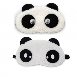 Dreamy Cute Panda And Dot Panda Sleeping Eye Mask (Pack of 2)