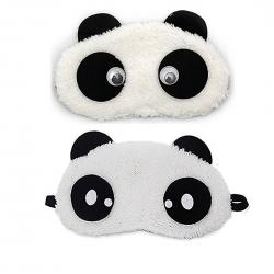 Dreamy Cute Panda And Dot Panda Sleeping Eye Mask (Pack of 2)