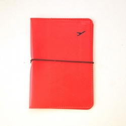 Red Leather Passport Cover Wallet