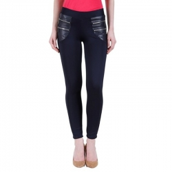 Littledesire Blue Stretchable Zipper Jeggings