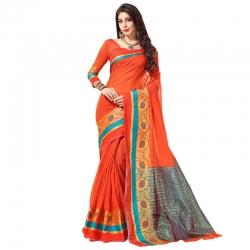 Littledesire Cotton Silk Woven Saree with Blouse