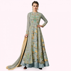 Latest Embroidered Designer Georgette Kurta With Dupatta