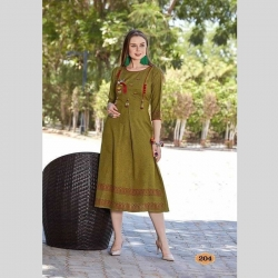 Littledesire Regular Round Neck Embroidered Kurta