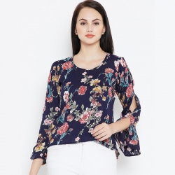 Littledesire Floral Printed Rayon Women Top