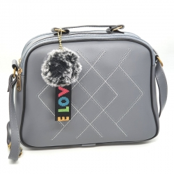 Littledesire Pom-Pom Fur Ball Stylish Crossbody Bag
