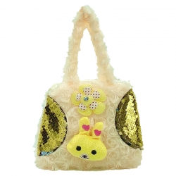 Littledesire Cute Cartoon Faux Fur Sling Bag 6 inch
