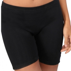 Mid Waist Cycling Shorts With Inner Elastic