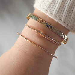 Multiple Layers Gold Plated Bracelet 3 Pcs