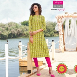 Straight Printed Boat Neck Kurta