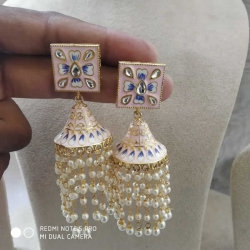 Square Jhumka Designer Earrings