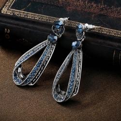 Stylish Jewellery Blue Stone Fancy Party Wear Earrings