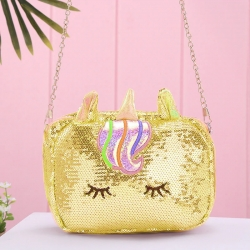 Unicorn Glitter Sequin Cross body Shoulder Bag for Girls