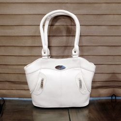 FD Fashion Stylish Solid White Shoulder Bag