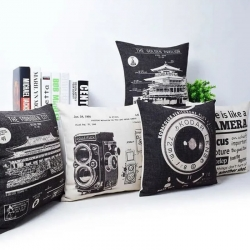 Camera Building Printed Cushions Cover 16 x 16 inch Pack of 5