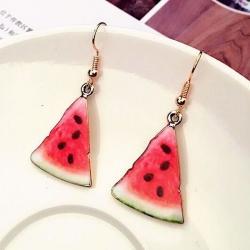 Cute Fruit Red Muskmelon Earrings