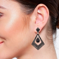 Elegant Drop Fashion Oxidized Antique Drop Earrings
