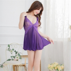 Sexy Lace Gauze Transparent Sleepwear