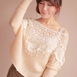 Women Hollow Out Top Lace Cutout Crochet