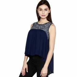 Littledesire High Low Hem Cotton Printed Shrug Top
