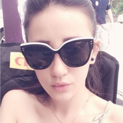 Vintage Cat style Big Frame Sunglasses