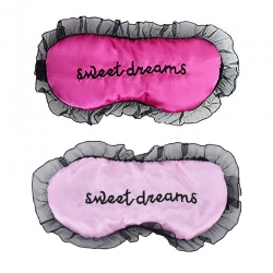 Sweet Dreams Pink & Baby Pink Silk Sleep Eye Mask (Pack of 2)