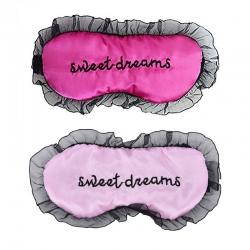 Sweet Dreams Pink & Baby Pink Silk Sleep Eye Mask (Pack of 2)