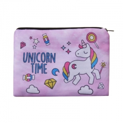 Littledesire Cartoon Unicorn Square Cosmetic Pouch Bag