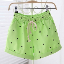 Littledesire Kitten Pattern Printed Hot Short Pants