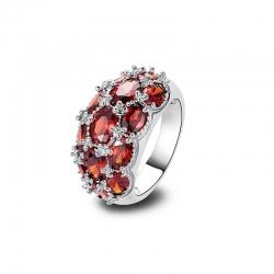 Littledesire Garnet 925 Sterling Silver Ring