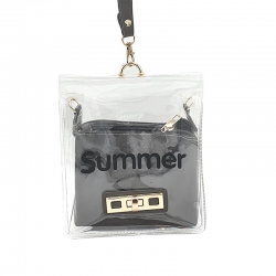 Littledesire Summer Transparent Shoulder Jelly Fashion Sling Bag