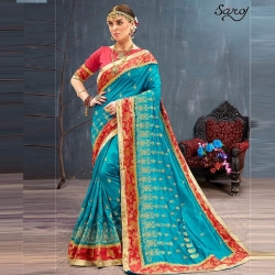 Littledesire Embroidered Bangalori Festival Saree