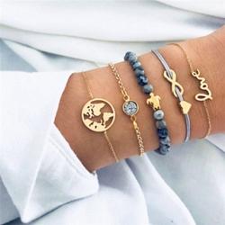 Littledesire Turtle Charm Bracelets Bangles 5Pcs