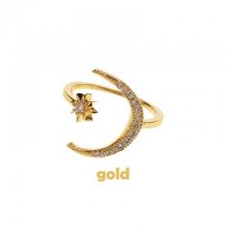 Littledesire Moon & Star Crystal Ring