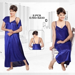 Littledesire V- Neck Lace Nightwear With Robe Set