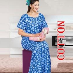 Floral Printed Feeding Women's Cotton Nightwear