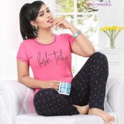 Printed Top and Pajama Set for Women