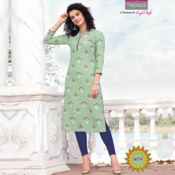 Littledesire Straight Printed Green Kurta