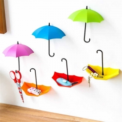 Colorful Umbrella Wall Hook Small Key Holder