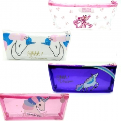 Printed Unicorn Transparent Pencils Box Pack Of (3 Pcs)