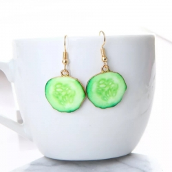 Creative Design Cucumber Dangle Earrings