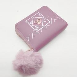 Butterfly Print Mini Purse PU Leather Zipper Wallet