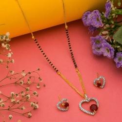 Love Design Stylish Mangalsutra & Earrings Set
